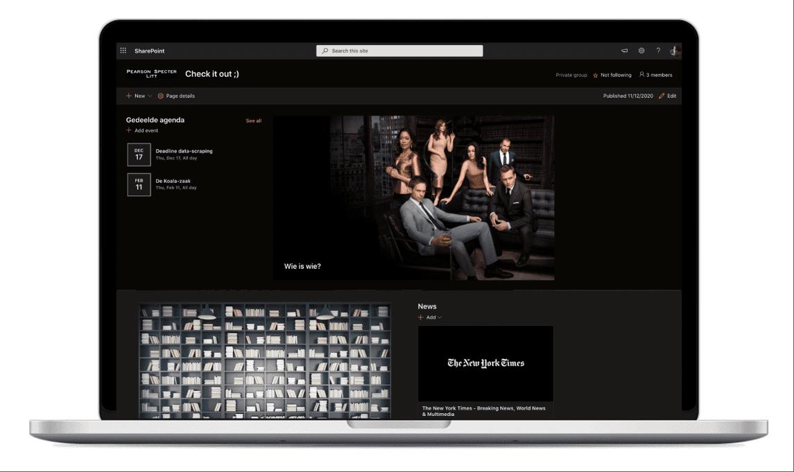 Sharepoint homepage